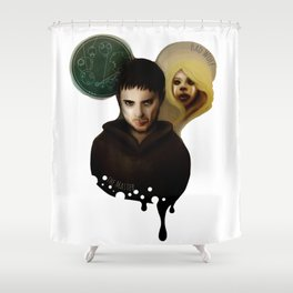 the Master & the BadWolf Shower Curtain