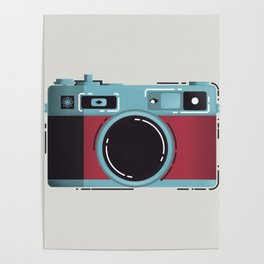 Little Yashica Camera Poster