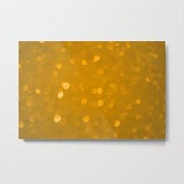 Starry orange tint Metal Print