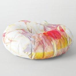Tulip Fever Abstract Art Floor Pillow