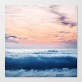Aqua Peach Vanishing Horizon Canvas Print