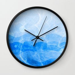 Energy Waves - Blue Version Wall Clock