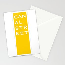 Canal Street - NYC - Yellow Stationery Cards