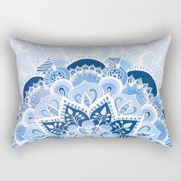 Lacy Blues Rectangular Pillow