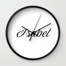 Name Isabel Wall Clock