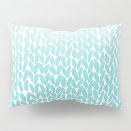 Hand Knitted Ombre Teal Pillow Sham
