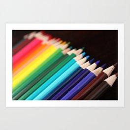 Colored Pencils 2 Art Print