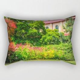 Red Roof Rectangular Pillow