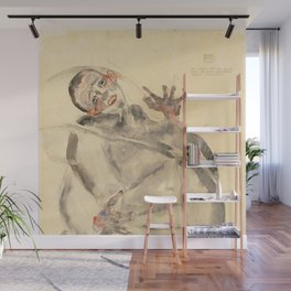 "Egon Schiele ""I Will Gladly Endure for Art and My Loved Ones"" Wall Mural"