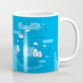 GVVT - Line art blue version Gruppo Volo a Vela Ticino Coffee Mug