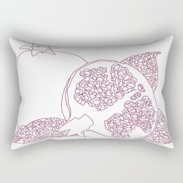 Pomegranate Outline Rectangular Pillow