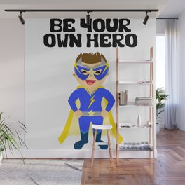 Be your Own Hero Boy Wall Mural