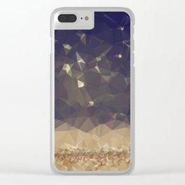 Glitter Rain Clear iPhone Case