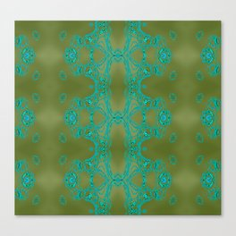 Turquoise lace Canvas Print