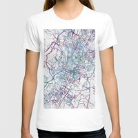 austin T-shirts featuring Austin map by MapMapMaps.Watercolors