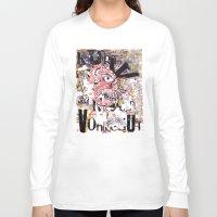 kurt vonnegut Long Sleeve T-shirts featuring Kurt Vonnegut Portrait by Karl Frey