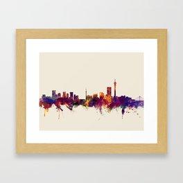 Johannesburg South Africa Skyline Framed Art Print