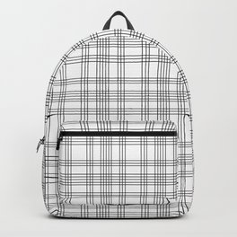 Line Ligné 1 black and white prince  of wales check Backpack
