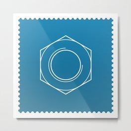 Stamp series - Nut Metal Print