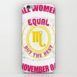 Best-Women-Born-On-November-04-Scorpio---Sao-chép iPhone Skin