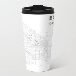 BOISE Map Print Metal Travel Mug