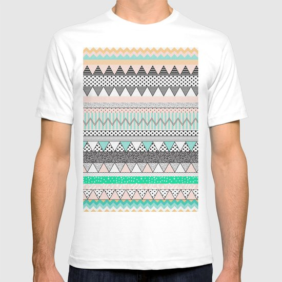 CHEVRON MOTIF T-shirt