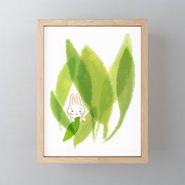 Cute Bunny Framed Mini Art Print