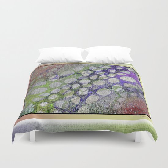 ORGANIC TIME TRAVELERS RIVER ROCKS ABSTRACT Duvet Cover