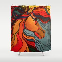 Wild Horse Breaking Free Southwestern Style Shower Curtain