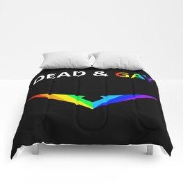 Paladin V Dead & Gay Light Text Comforters