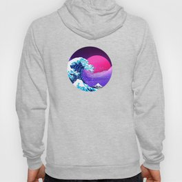 Synthwave Space: The Great Wave off Kanagawa #2 Hoody