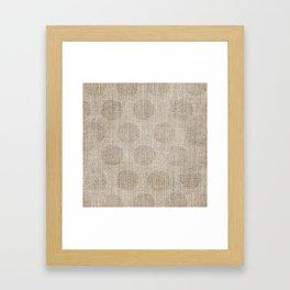 Poka dot burlap (Hessian series 2 of 3) Framed Art Print