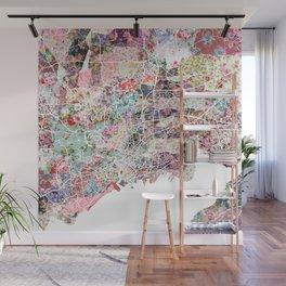 Brest map Wall Mural