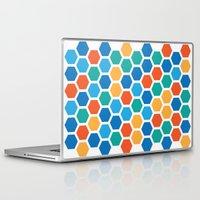 hexagon Laptop & iPad Skins featuring Hexagon by Danielle Arrington