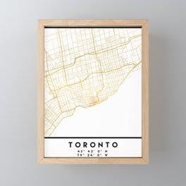 TORONTO CANADA CITY STREET MAP ART Framed Mini Art Print