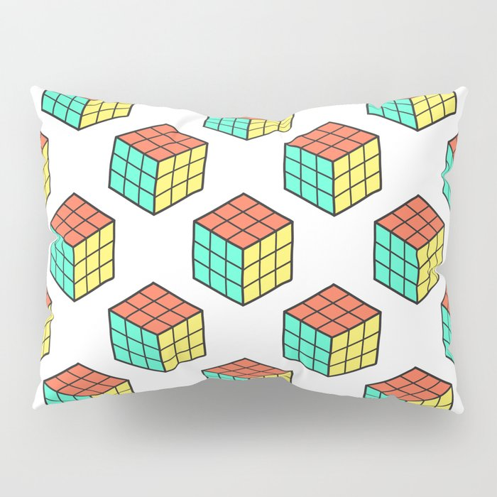 rubiks cube pattern pillow sham by s3xyglass3s society6