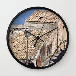 """Old Abandoned Farmhouse - Sicily - """"Vacancy"""" zine  Wall Clock"""