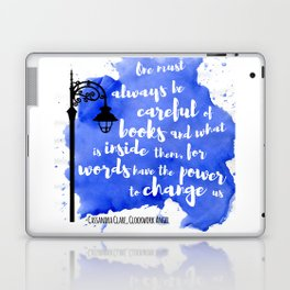 WORDS HAVE THE POWER TO CHANGE US   CASSANDRA CLARE Laptop & iPad Skin