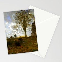 "Jean-François Millet ""Autumn Landscape with a Flock of Turkeys"" Stationery Cards"