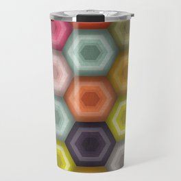 crochet honeycomb Travel Mug