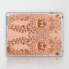 Sunset Blvd Leopard - blush pink and coral original print by Kristen Baker Laptop & iPad Skin
