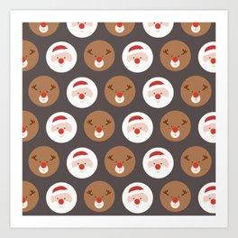 Santa's Slaves III (Patterns Please) Art Print