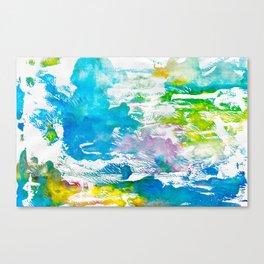 Algae and Aqua - Abstract Painting Canvas Print