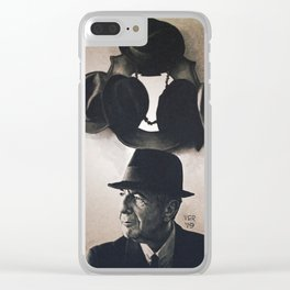 Leonard Cohen hats Clear iPhone Case
