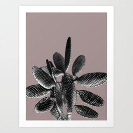Black Mauve Cactus #1 #plant #decor #art #society6 Art Print