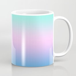 Pastel Gradient Teal Pink Blue Ombre Pattern Soft Watercolor Unicorn Beautiful Relaxation Texture Coffee Mug