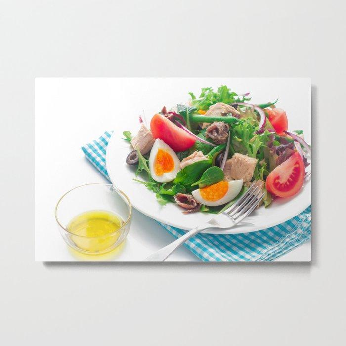nicoise-style salad Metal Print