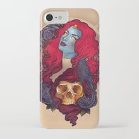 raven iPhone & iPod Cases featuring Raven by Megan Lara