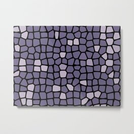 purple stained glass. Metal Print