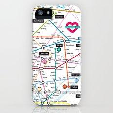 Love Map iPhone (5, 5s) Slim Case